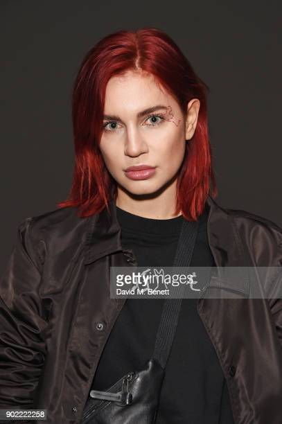Nikita Andrianova attends the Christopher Raeburn show during London Fashion Week Men's January 2018 at BFC Show Space on January 7 2018 in London...