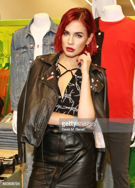 Nikita Andrianova attends the Weekday store launch on August 16 2017 in London England