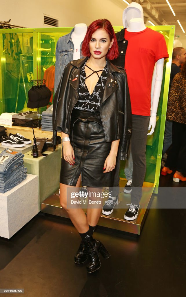 Nikita Andrianova attends the Weekday store launch on August 16, 2017 in London, England.