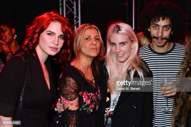 Nikita Andrianova Azzi Glasser India Rose James and Twiggy Garcia attend The Perfumer's Story evening of Scentsory delights hosted by Aures London...