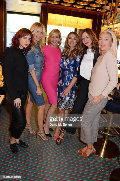 Nikita Andrianova, Melissa Odabash, Tania Bryer, Elizabeth Hurley, Trinny Woodall and Tamara Beckwith attend the World's Biggest Coffee Morning...