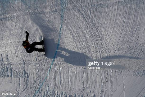 Nikita Avtaneev of Olympic Athlete from Russia competes during the Snowboard Men's Halfpipe Qualification on day four of the PyeongChang 2018 Winter...