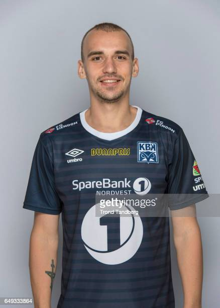 Nikita Baranov of Team Kristiansund BK on March 7 2017 in Kristiansund Norway