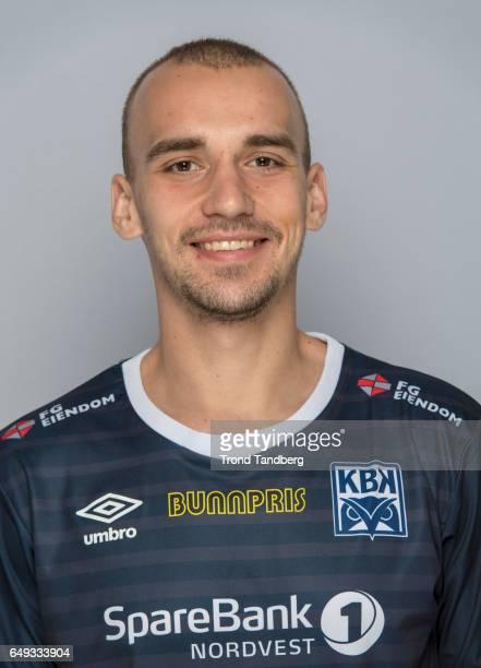 Nikita Baranov of Team Kristiansund BK on March 7 2017 in Kristiansund Norway