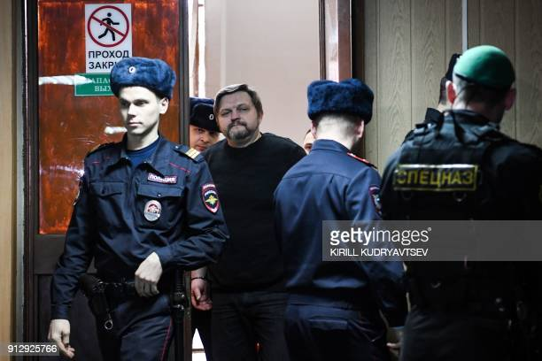 Nikita Belykh exKirov region governor arrives to a hearing at the Presnensky district court in Moscow on February 1 2018 Russian court returns its...