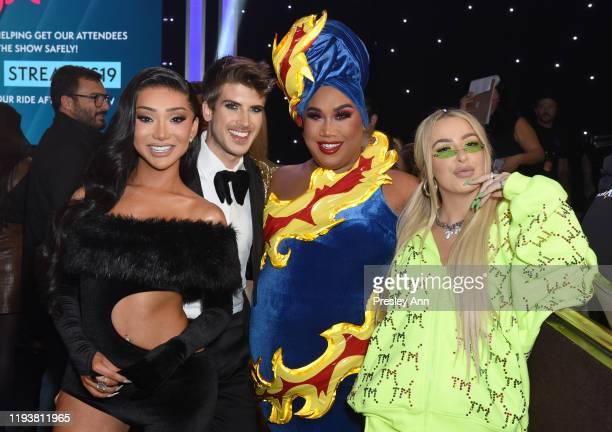 Nikita Dragon, Joey Graceffa, Patrick Starrr and Tana Mongeau attend The 9th Annual Streamy Awards on December 13, 2019 in Los Angeles, California.