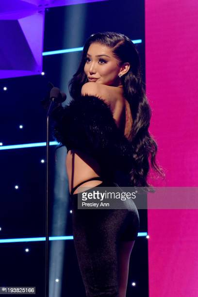 Nikita Dragon speaks onstage during The 9th Annual Streamy Awards on December 13 2019 in Los Angeles California