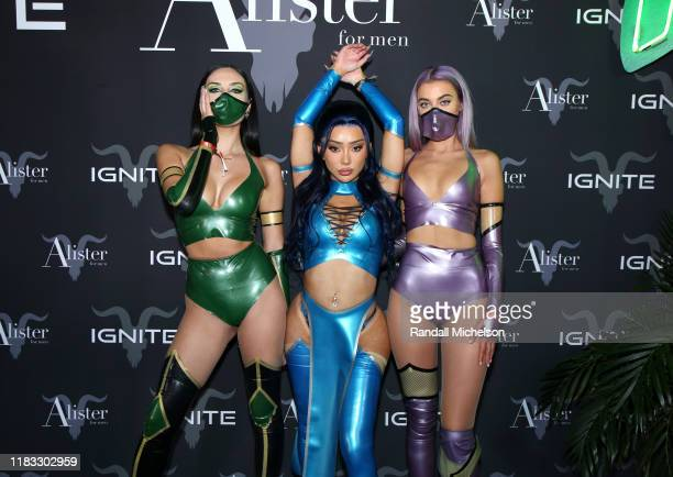 Nikita Dragun and guests attend Dan Bilzerian's Halloween Party sponsored by Ignite International Ltd Alister and BlitzBet on October 24 2019 in Los...