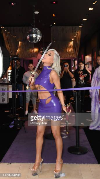 Nikita Dragun attends the Dragun Beauty PopUp by Nikita Dragun Grand Opening at The Beverly Center on October 05 2019 in Los Angeles California