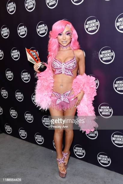 Nikita Dragun poses backstage during the 2nd Annual American Influencer Awards at Dolby Theatre on November 18 2019 in Hollywood California
