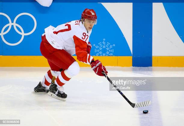 Nikita Gusev of OAR during Men's Semifinal ice hockey match between the Czech Republic and Olympic Athletes from Russia on day fourteen of the 2018...