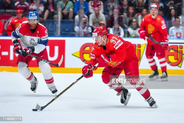 Nikita Gusev of Russia in action during the 2019 IIHF Ice Hockey World Championship Slovakia third place playoff game between Russia and Czech...