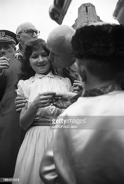 Nikita Khrushchev And His Wife In Official Visit To Verdun France Verdun 29 mars 1960 Nikita Sergueïevitch KHROUCHTCHEV Premier secrétaire du Comité...