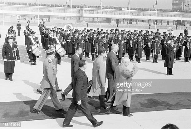 Nikita Khrushchev Official Visit To France Arrival To Orly Airport France Orly 23 mars 1960 Nikita Sergueïevitch KHROUCHTCHEV Premier secrétaire du...