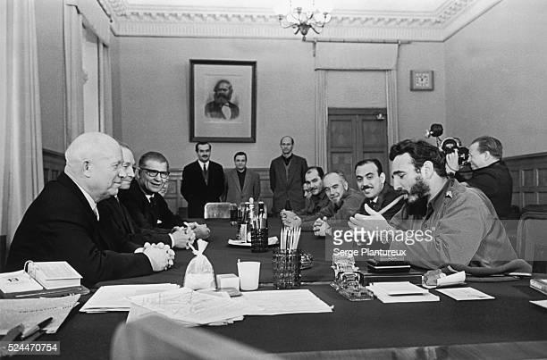 Nikita Khrushchev with Fidel Castro Moscow