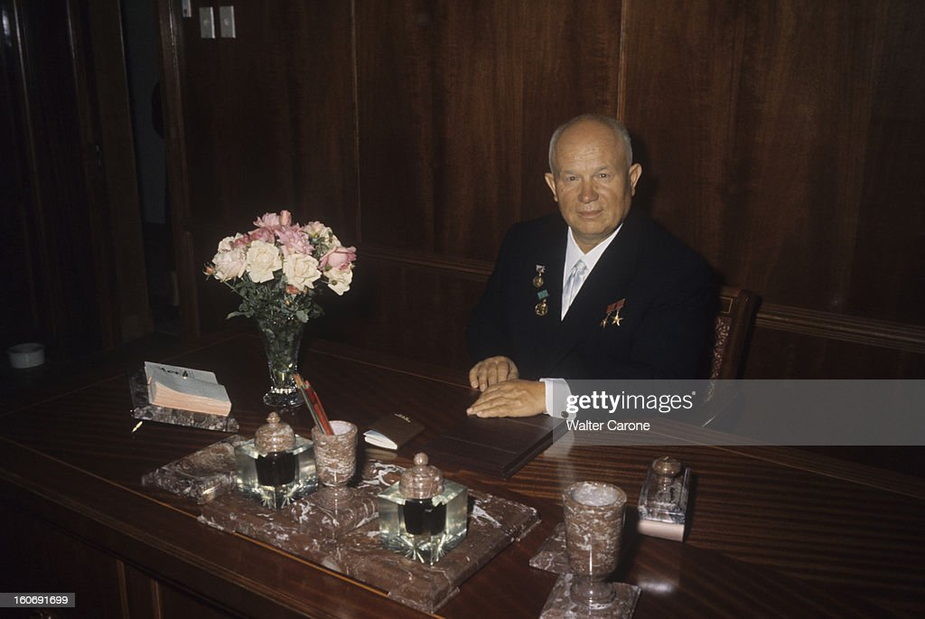 Nikita khrushchev with his wife nina and family pictures getty