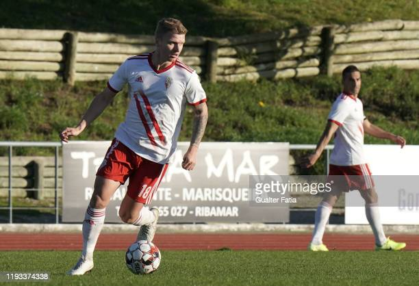 Nikita Korzun of UD Vilafranquense in action during the Liga Pro match between CD Mafra and UD Vilafranquense at Estadio do Parque Desportivo...
