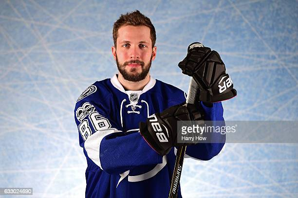 Nikita Kucherov of the Tampa Bay Lightning poses for a portrait prior to the 2017 Honda NHL AllStar Game at Staples Center on January 29 2017 in Los...