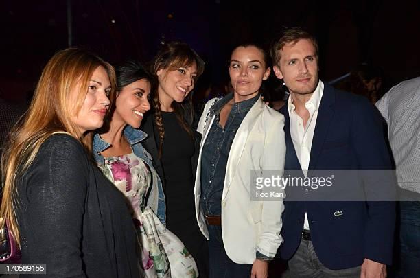 Nikita Lespinasse, Reem Kherici, Shirley Bousquet, Justine Fraioli and Philippe Lacheau attend 'La Johnson' hosted by Le Baron Club 10th Anniversary...