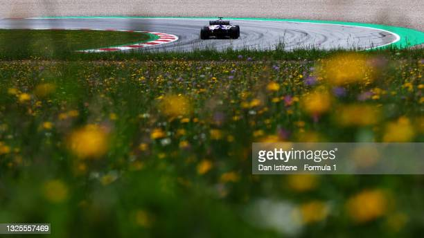 Nikita Mazepin of Russia driving the Haas F1 Team VF-21 Ferrari during final practice ahead of the F1 Grand Prix of Styria at Red Bull Ring on June...