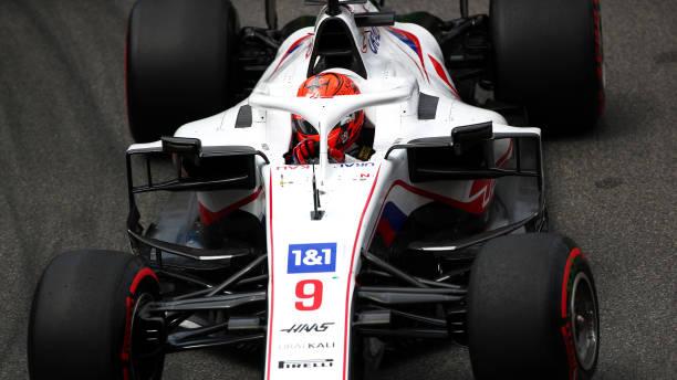 Nikita Mazepin of Russia driving the Haas F1 Team VF-21 Ferrari on track during the F1 Grand Prix of Monaco at Circuit de Monaco on May 23, 2021 in...