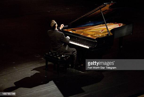 Nikita Mndoyants of Russia performs during the semifinal round of the Van Cliburn International Piano Competition at Bass Performance Hall in Fort...
