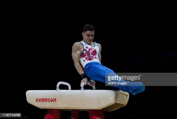 Nikita Nagornyy in action during Gymnastics World Cup 2019 at Genting Arena Birmingham