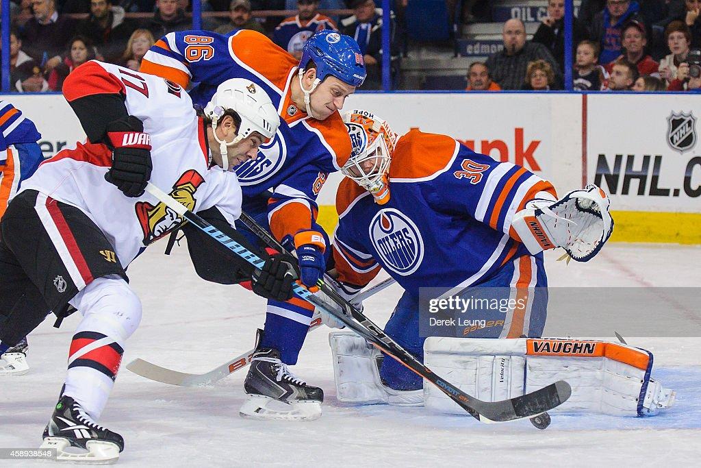 Ottawa Senators v Edmonton Oilers : Nachrichtenfoto
