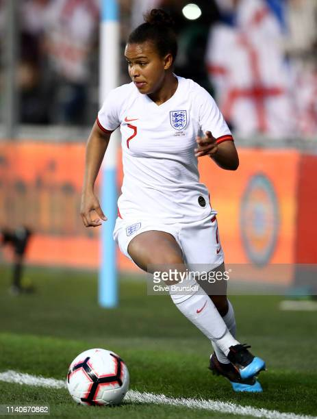 Nikita Parris of England controls the ball during the International Friendly between England Women and Canada Women at The Academy Stadium on April...