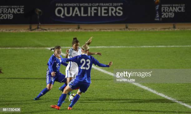 Nikita Parris of England in action during the FIFA Women's World Cup Qualifier match between England and Kazakhstan at the Weston Homes Community...