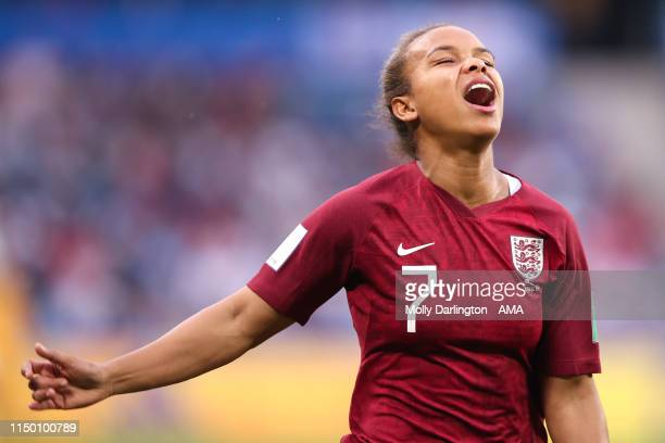 Nikita Parris of England reacts during the 2019 FIFA Women's World Cup France group D match between England and Argentina at Stade Oceane on June 14...