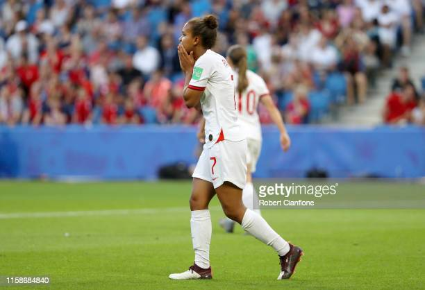 Nikita Parris of England reacts during the 2019 FIFA Women's World Cup France Quarter Final match between Norway and England at Stade Oceane on June...
