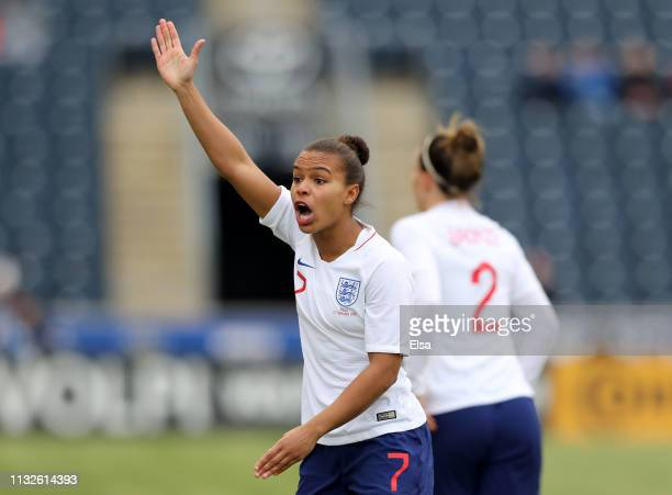 Nikita Parris of England reacts during the 2019 SheBelieves Cup match between Brazil and England at the Talen Energy Stadium on February 27 2019 in...