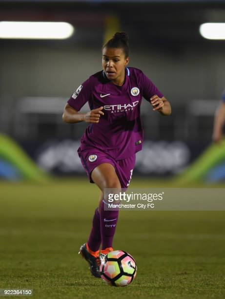 Nikita Parris of Manchester City Women during the WSL match between Birmingham City Ladies and Manchester City Women at Damson Park on February 21...