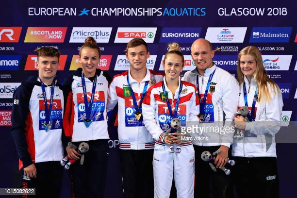 Nikita Shleikher and Iuliia Timoshinina of Russia , Matthew Lee and Lois Toulson of Great Britain and Florian Fandler and Christina Wassen of Germany...