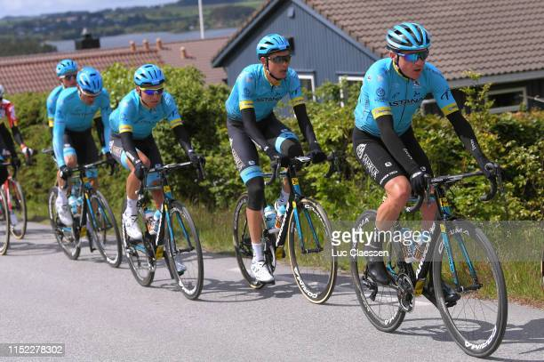 Nikita Stalnov of Kazahkstan and Astana Pro Team / Zhandos Bizhigitov of Kazahkstan and Astana Pro Team / during the 9th Tour of Norway 2019 Stage 1...