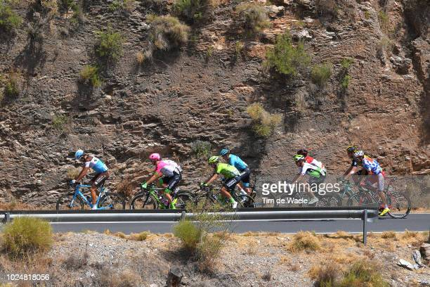 Nikita Stalnov of Kazakhstan and Astana Pro Team / Lars Boom of The Netherlands and Team LottoNL - Jumbo / Ben Gastauer of Luxembourg and Team AG2R...