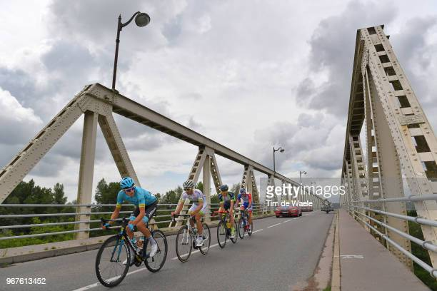 Nikita Stalnov of Kazakhstan and Astana Pro Team / Pierre-Luc Perichon of France and Team Fortuneo Samsic / Frederik Backaert of Belgium and Team...