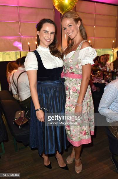 Nikita Stromberg and Stephanie Schlayer during the GlamWasen celebration in cooperation with Dresscoded at Armani Caffe at Fuenf Hoefe on September 1...