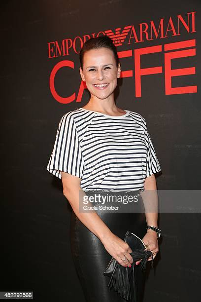 Nikita Stromberg during the Emporio Armani Friends event at the Armani Caffe on July 29 2015 in Munich Germany