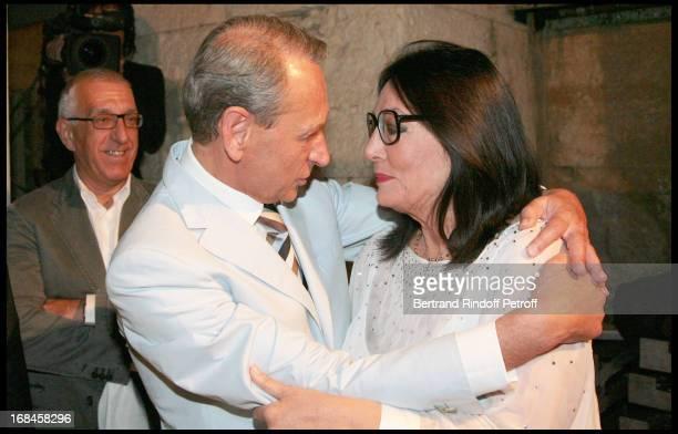 Nikitas Kaklamanis Mayor of Athens Bertrand Delanoe Mayor of Paris and Nana Mouskouri at Nana Mouskouri's Farewell Concert At Odeon Herodes Atticus...
