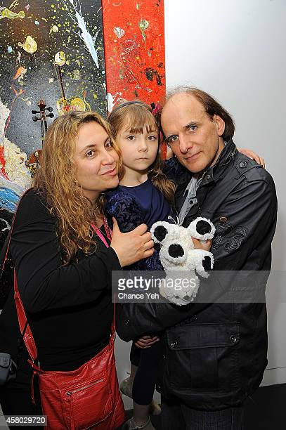 Nikka Andre, Aelita Andre and Michael Andre attend Aelita Andre Exhibit Opening Night at Gallery 151 on October 28, 2014 in New York City.