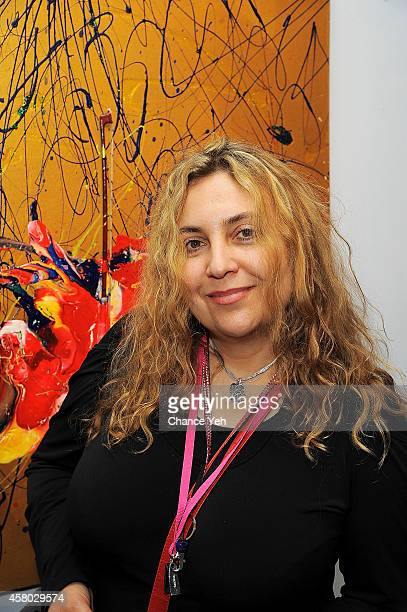 Nikka Andre attends Aelita Andre Exhibit Opening Night at Gallery 151 on October 28 2014 in New York City