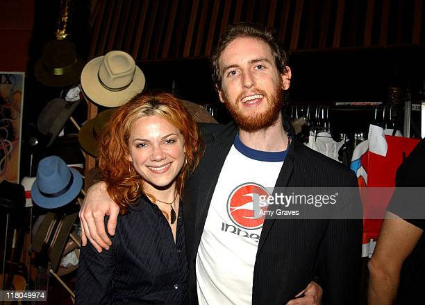 Nikka Costa and Jesse Carmichael of Maroon 5 during GRAMMY Style Studio Day 3 at Ocean Way Recording Studios in Los Angeles California United States