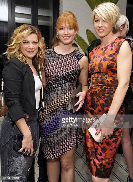 Nikka Costa Jenna Elfman and Alicia Witt attend dinner and cocktails hosted by Nicole Miller Emmy Rossum and Luis Barajas at Thompson Hotel on...
