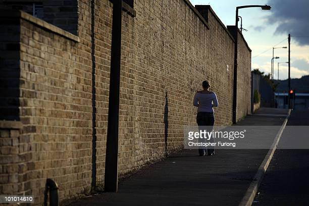 Nikki a teenage prostitute waits for customers in the red light area of Bradford on May 27 2010 in Bradford England West yorkshire Police have today...