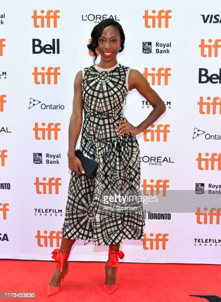 Nikki AmukaBird attends The Laundromat premiere during the 2019 Toronto International Film Festival at Princess of Wales Theatre on September 09 2019...
