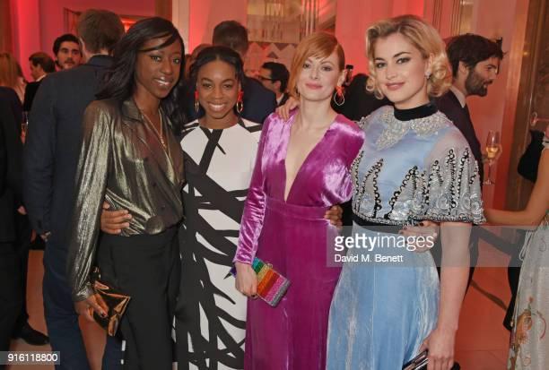 Nikki AmukaBird Pippa BennettWarner Emily Beecham and Stefanie Martini attend a drinks reception at the London Evening Standard British Film Awards...