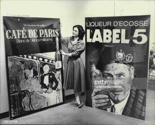 Nikki Beaumont 19 of Cammeray admires French Metro Railway Posters from the Walls of Paris underground stations which will be on exhibition at Prouds...