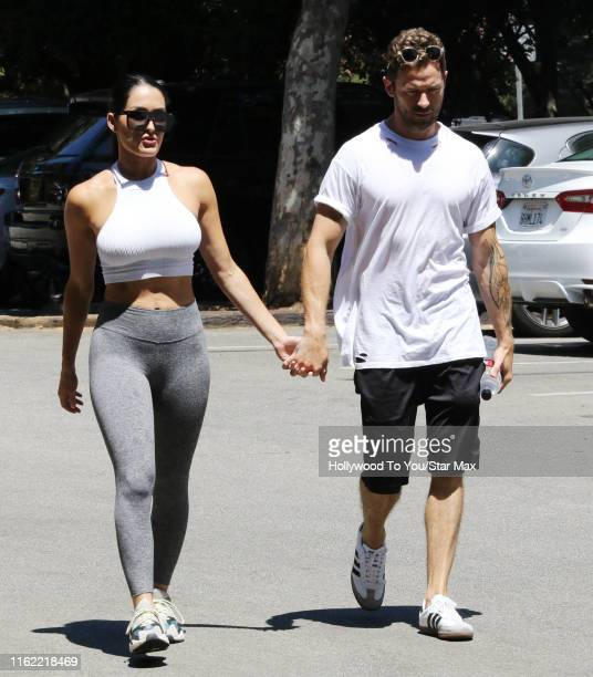 Nikki Bella and Artem Chigvintsev are seen on August 17 2019 at Los Angeles